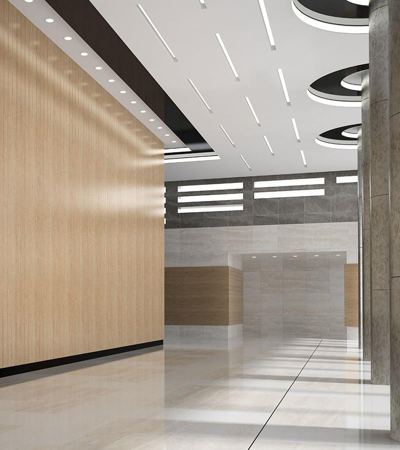 Interior of a lobby reception